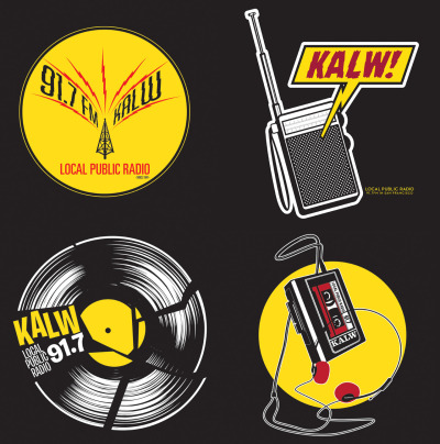 Design concepts for some new KALW hoodies.