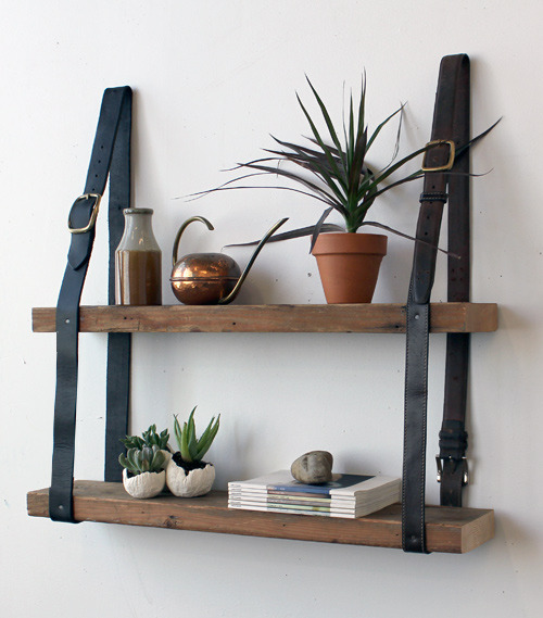 awwwsomerooms:  proper way to use old leather belts