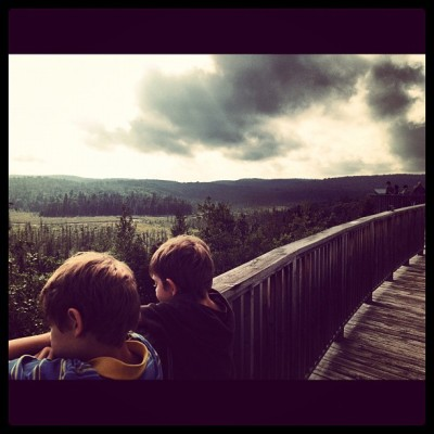 Beautiful skies.  (Taken with Instagram at Algonquin Visitors Centre)
