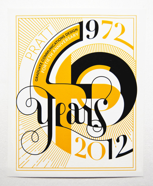 Typeverything.com - Pratt 40-Year Bookplate by Nick Misani.