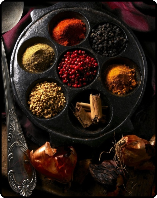 spices from around the world…