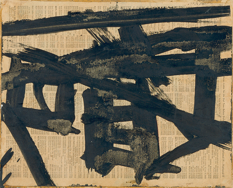 Franz Kline - Untitled (Study for Mahoning), 1951