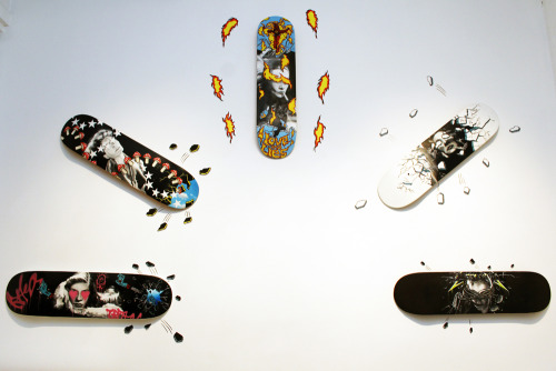 'A Fan of Skateboarding'… come check it out at my opening of Smoke and Mirrors on Sept 6th!