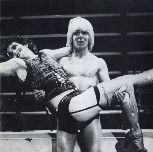 Rocky Horror (Gary Martin) and Frank-N-Furter (Jeff Shankley), from a 1980 German production of The Rocky Horror Show