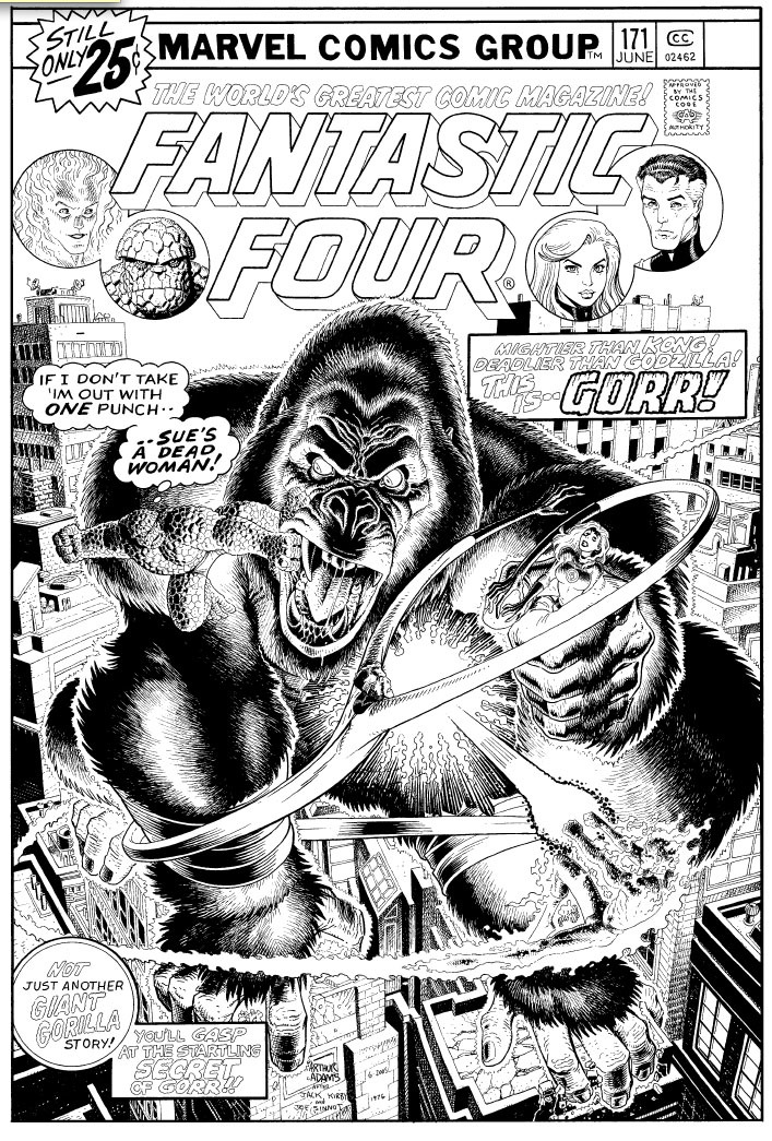 brianmichaelbendis:  Fantastic 4 cover recreation by Art Adams. the scans of these elaborate commissions are coming directly from the Art Adams household. joyce chin was kind enough to forward them to me after seeing what I was doing on tumbler this weekend.