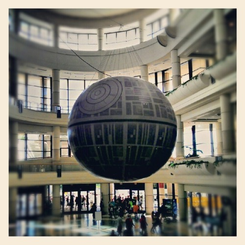 Oh, just a giant Death Star in the middle of the convention center lobby. No big deal… Use The Force and click over to our Pinterest page to check out all the sights we saw at this year's Star Wars Celebration VI! http://pinterest.com/nerdist/star-wars-celebration-vi/