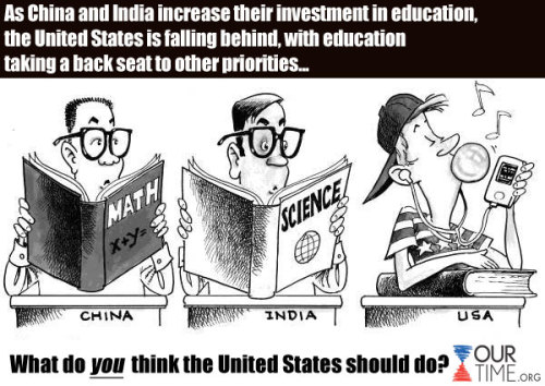 LIKE = We need to make education a higher priority in the U.S.! SHARE = Educational policy will be a major factor in determining my vote in the 2012 election. COMMENT = We already invest enough (or too much) in education!