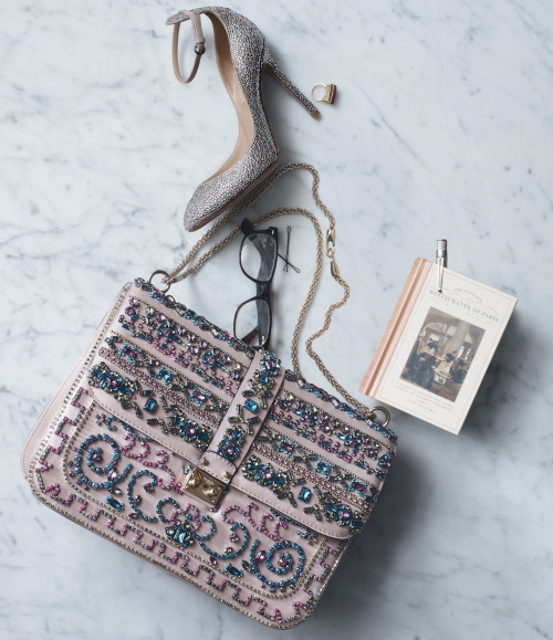 "Necessary objects. ""Tango"" Pump & ""Glam Lock"" handbag, Valentino."
