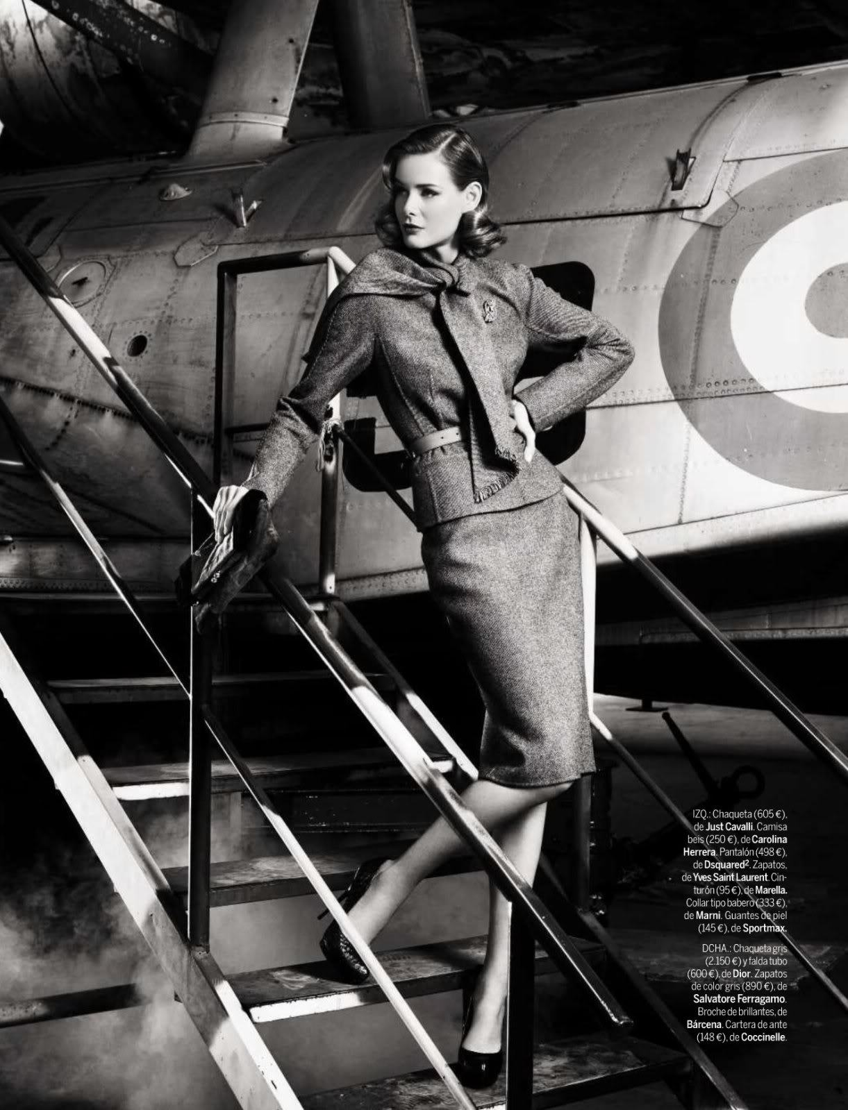 "Model: Flavia Oliveira | Photographer: Pascal Chevallier - ""The Aviatrix"" for Elle, September 2009"