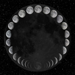 butterflieswhispertodeath:  Phases of the moon by John Skouros