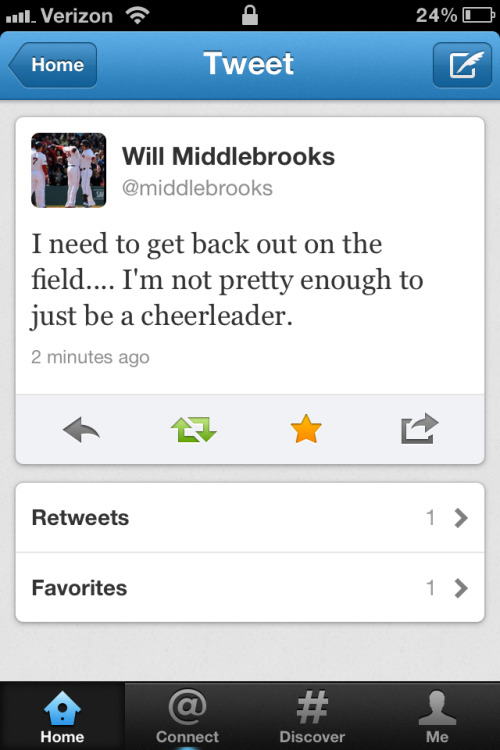 Yet Another Reason To Love @Middlebrooks