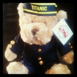 Tina's present. Her little Titanic bear  (Taken with Instagram at Belfast Titanic Museum)