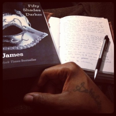 My #Salvation ::: #reading #writing #diary #journal #50ShadesDarker #therapy ::: 😌📖📝👌 (Taken with Instagram)