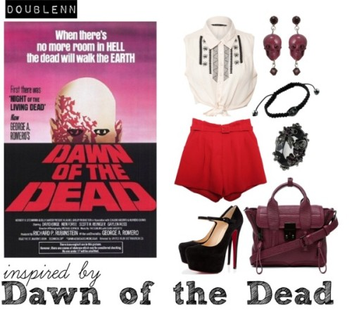 Dawn of the Dead by doublenn featuring crop tops