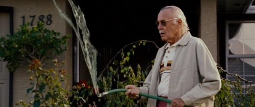 bigredrobot:   It's unquestionably the most phallic Stan Lee cameo of all time, though, as he stares at his waist-high garden hose attaining new heights of virility.  Chris Sims, ComicsAlliance Reviews 'X-Men 3: The Last Stand' (2006), Part One - ComicsAlliance.