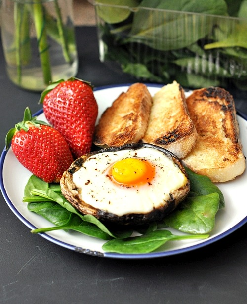 foodfuckery:  Baked Egg in a Portobello Mushroom Recipe