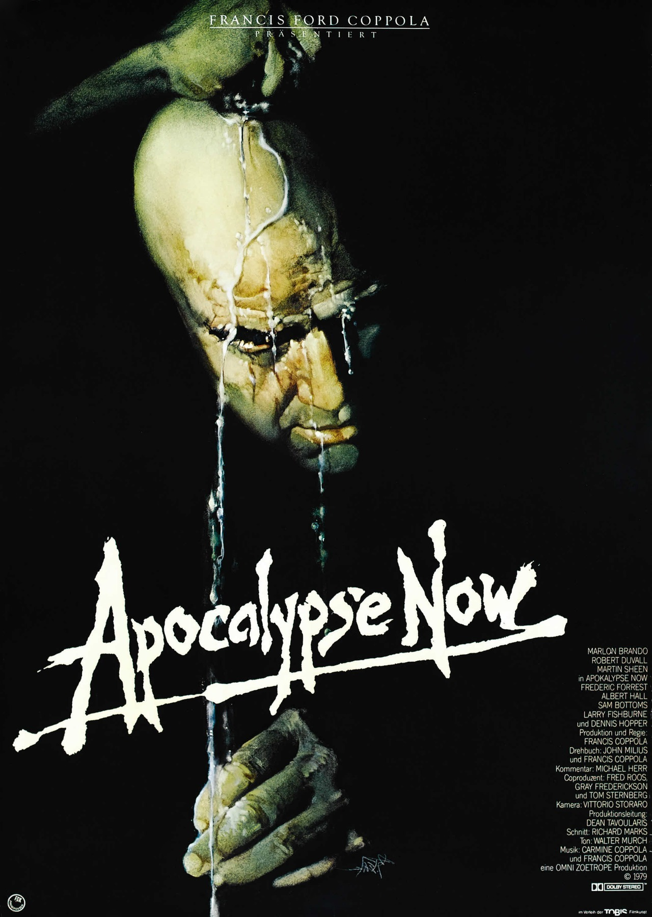 speakingparts:  Apocalypse now [Francis Ford Coppola, 1979] german movie poster Designed by Eiko Ishioka