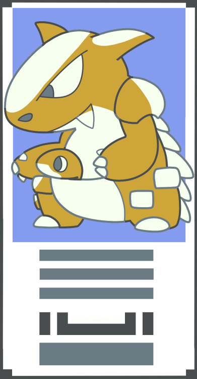 I was playing Pokémon Green and I had to draw the beta Kangaskhan in the Pokémon Stadium border. (Always there when playing in a emulator or playing in the Doduo/Dodrio Player) I don't know if it's simplification of it's in-game sprite or a old design, but it was a fun discovery. :>