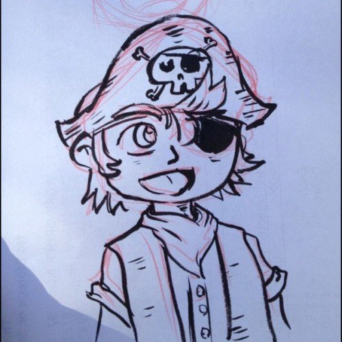 #awesomized #genkimon pirate boy sketch (Taken with Instagram)