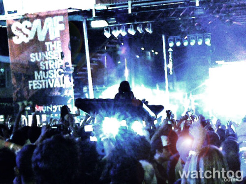 @steveaoki crowd surfing at @SSMF 2012 (taken from my @BlackBerry)