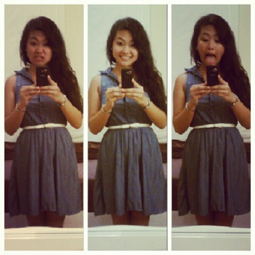 happy first day of school (: #ootd #themanyfacesofmaryanne #mycamerasucks #firstdayofschool (Taken with Instagram)