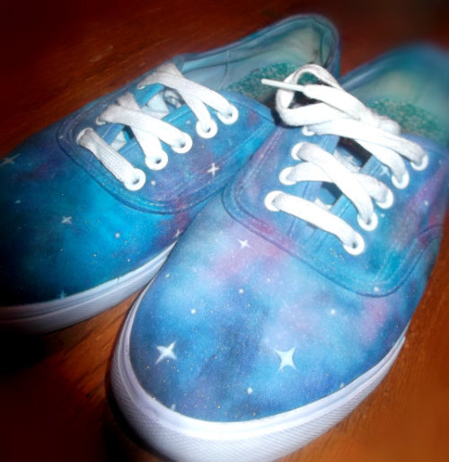 The galaxy shoes I made :)
