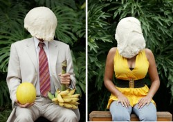 laughingsquid:  Portraits of People With Dough on Their Head by Søren Dahlgaard  Wtf mate
