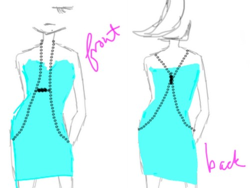 truebluemeandyou:  DIY Easiest Body Armor Ever by Gloriously Chic. Seriously clever. Chain and safety pins - go to the link to see how she put this together. Also, I might add beads or some embellishment to the safety pins. For more body armor tutorials of all types go here: truebluemeandyou.tumblr.com/tagged/body-armor