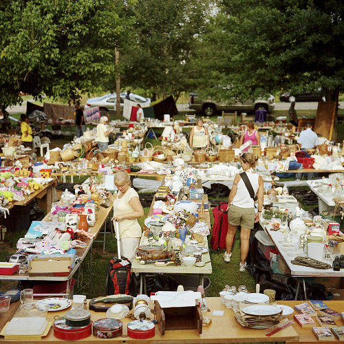 """When most of us look at yard sales we see piles of junk and the occasional deal. But when photographer Greg Ruffing looks at yard sales he sees the sociological underpinnings of America. After traveling the country for four years shooting Yard Sales, Ruffing's photos document consumer habits, low-budget marketing, the movement of military families and telling evidence of the economic recession."" (via Yard Sale Photos Reveal Our Insatiable Need for Stuff 