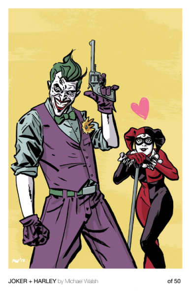 comiccool:  Joker + Harley by Michael Walsh