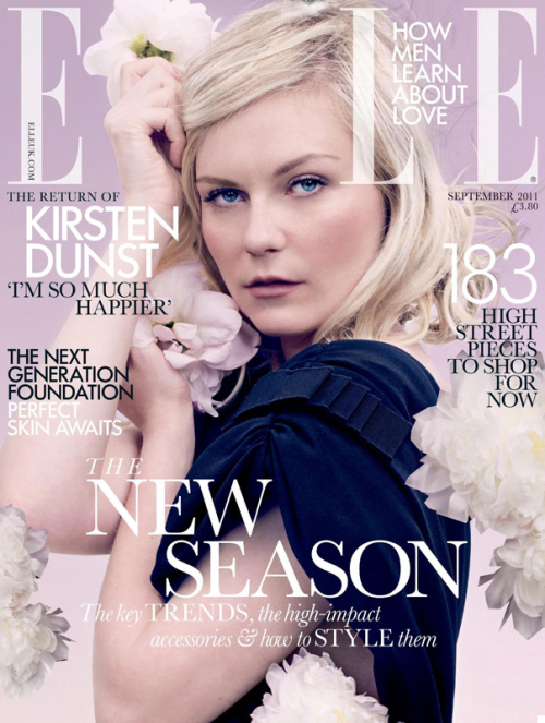 Elle UK, September 2011, cover (+) photographer: David Slijper Kirsten Dunst