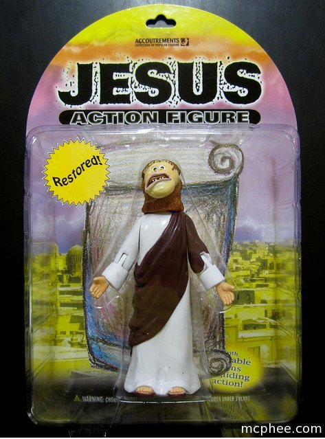 We've been thinking about restoring our Jesus Action Figure, how about this?