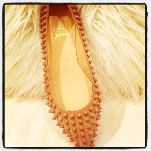 thefashionoffice:  #BreakingShoes: #ChristianLouboutin Pigalle Spike Flat @NeimanMarcus - #fashion #shoes #bestoftheday #picoftheday (Taken with Instagram)