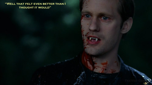 "True Blood Season 5 Episode 12 FINALE ""Eric is ecstatic about finally carrying out the true death on Russell Edgington"""