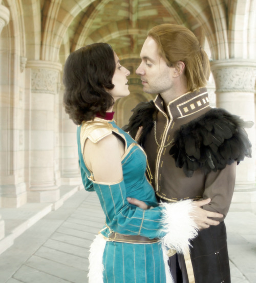 fuckyeahbiowarecosplay:  Bethany and Anders from Dragon Age II  Cosplayers: jancola Photographer: Derek   JJ is such a costuming bad ass and I love her take on Bethany. One day I hope to have such beautiful and clean work.