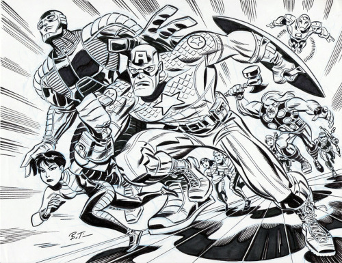 brianmichaelbendis:  The Ultimates by Bruce Timm