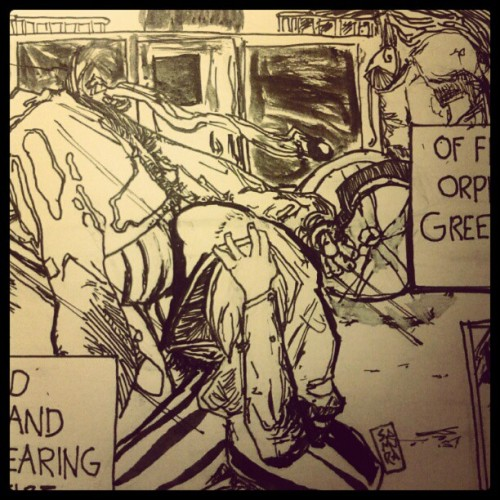 mercurialblonde:  Inking wip closey uppy (Taken with Instagram)