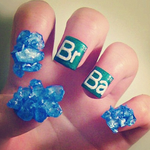 jeffreestar:  this Breaking Bad manicure just made my year. (Taken with Instagram)  *0* wowwwww