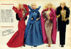theradofthefag:  In the 1980s, Barbie had an Oscar De La Renta dream closet… Awesome!!!  Barbie, always one to outdo me… bitch :p