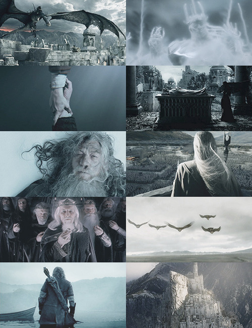 Lord of the Rings in grey