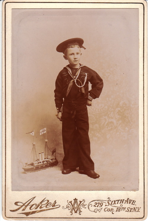 """ Sailor Boy and His Ship ""  …  Studio Portrait [Circa 1900-1910]"