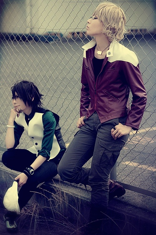 sendouakira:  Mike as Barnaby Brooks Jr and Aru as Kaburagi T. Kotetsu from Tiger and Bunny