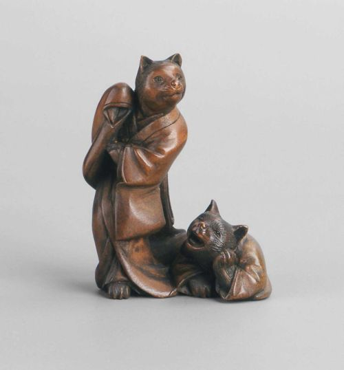 omgthatartifact:  Netsuke: Cat Prostitute and Client Japan, 19th century The Museum of Fine Arts, Boston