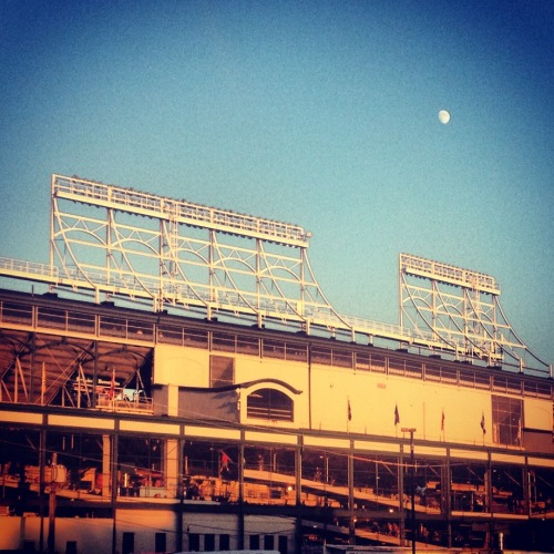 A beautiful night for some Cubs baseball!