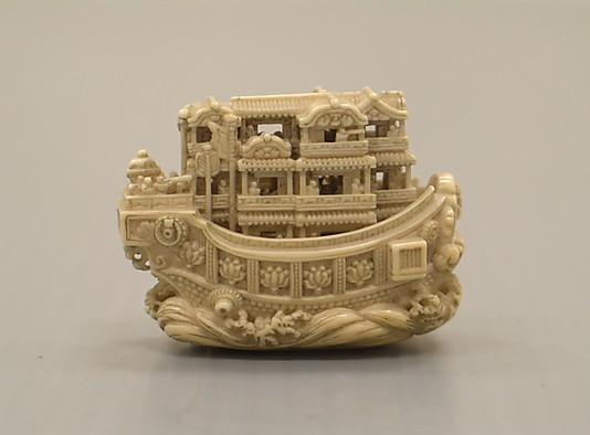 sombhatt:  Netsuke: Pleasure Boat Japan, 19th century The Metropolitan Museum of Art