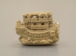 omgthatartifact:  Netsuke: Pleasure Boat Japan, 19th century The Metropolitan Museum of Art  I NEED THIS, UM, THING!!