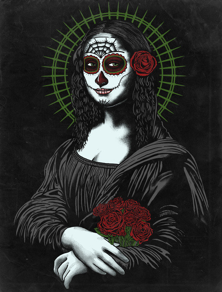 - VIVA LA MONA MUERTE LISA - ArtPrint and other stuff available @ Society6