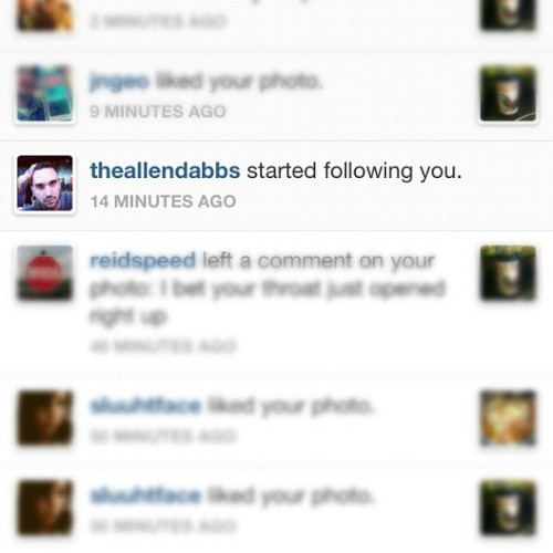I know he's into the ladies but oh my, am I ever flattered… Now, follow @theallendabbs you walking dick caves! (I mean, ladies) *and gents* #piercer #actor #theallendabbs #beautifulmodifiedboys #modifed #bodymod #tattoo #tattoos #boner (Taken with Instagram)