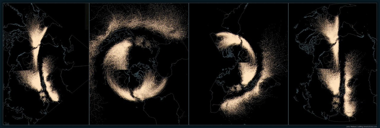 feltron:  Projection experiments for Hurricanes Since 1851