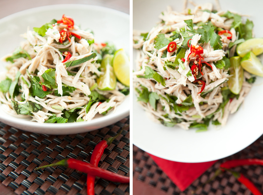 Yunnan lime chicken salad